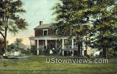 McLean House, Gen. Lee Surrender - Appomattox, Virginia VA Postcard