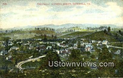 Looking South - Tazewell, Virginia VA Postcard