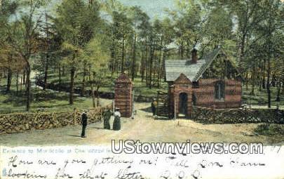 Entrance To Monticello  - Charlottesville, Virginia VA Postcard