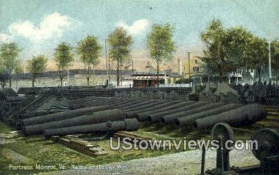 Relicks of the Civil War - Fortress Monroe, Virginia VA Postcard