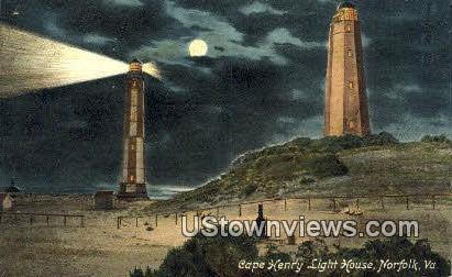 Cape Henry Light House - Norfolk, Virginia VA Postcard