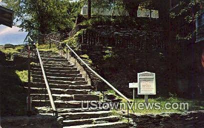 The Stone Steps - Misc, Virginia VA Postcard