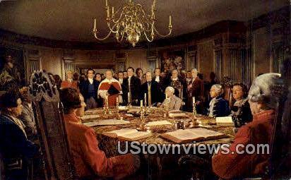 The Royal Governor Dismisses - Williamsburg, Virginia VA Postcard