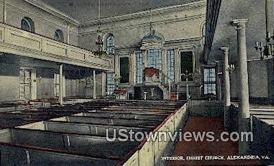 Washingtons Pew, Christ Church - Alexandria, Virginia VA Postcard