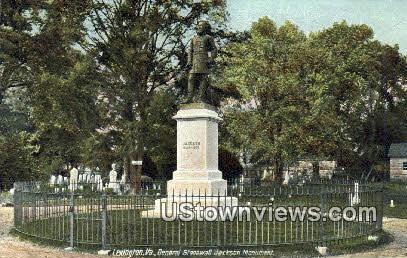 General Stonewall Jackson Monument - Lexington, Virginia VA Postcard
