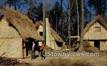 Fort James Houses - Jamestown, Virginia VA Postcard