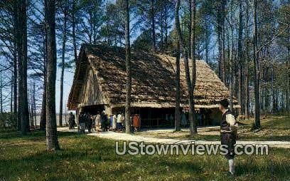 Glass House - Jamestown, Virginia VA Postcard