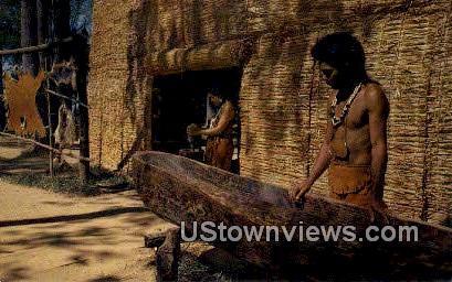 Replica of Algonquin Indian House - Jamestown, Virginia VA Postcard