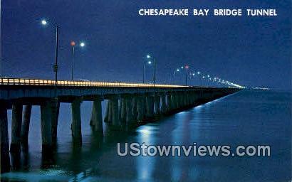 Bridge Tunnel  - Chesapeake Bay, Virginia VA Postcard
