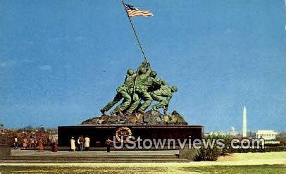 Two Jima Statue - Arlington, Virginia VA Postcard