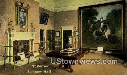 Mt. Vernon Mansion, Banquet Hall - Mount Vernon, Virginia VA Postcard