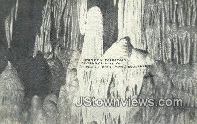 Frozen Fountain - Luray, Virginia VA Postcard