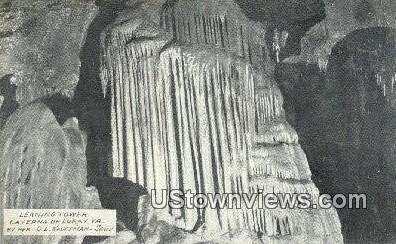 Leaning Tower - Luray, Virginia VA Postcard