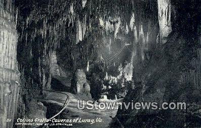 Collins Grotto - Luray, Virginia VA Postcard