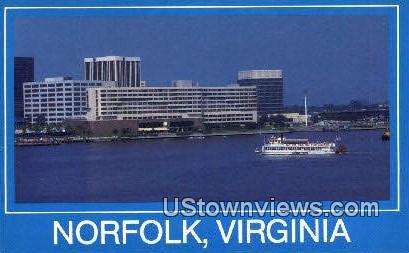 Omni Hotel - Norfolk, Virginia VA Postcard