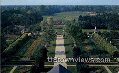 The Palace Gardens - Williamsburg, Virginia VA Postcard