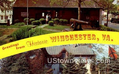 Greetings From  - Winchester, Virginia VA Postcard