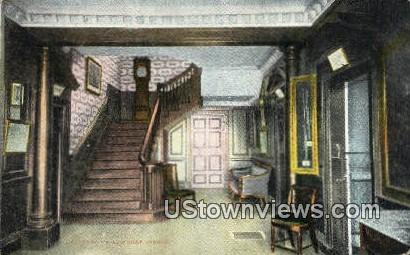 Main Hall, Washingtons Mansion - Mount Vernon, Virginia VA Postcard