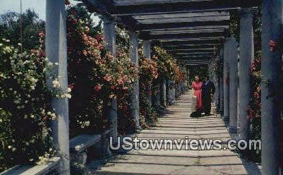 Sculpture Gardens Swannonoa Palace - Waynesboro, Virginia VA Postcard