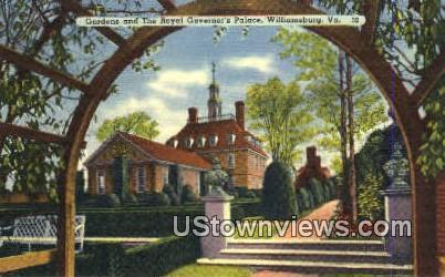 The Royal Governors Palace - Williamsburg, Virginia VA Postcard