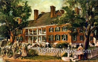 Chancellor house - Williamsburg, Virginia VA Postcard