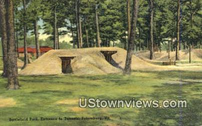 Battlefield park - Petersburg, Virginia VA Postcard