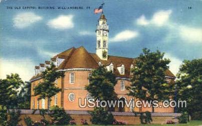 The Old Capitol Building  - Williamsburg, Virginia VA Postcard