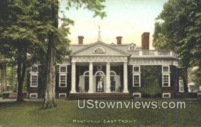 Monticello - Virginia VA Postcard