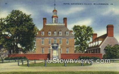 Royal Governor Palace - Williamsburg, Virginia VA Postcard