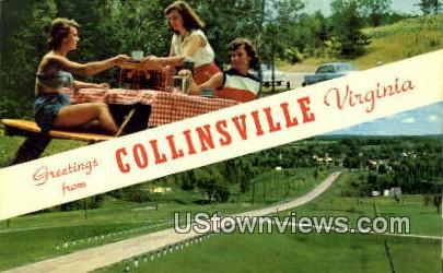 Greetings From  - Collinsville, Virginia VA Postcard