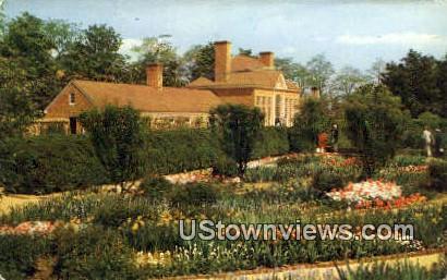Flower Garden & Greenhouse - Mount Vernon, Virginia VA Postcard
