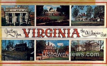Greetings From  - Greetings from Virginia Postcards, Virginia VA Postcard