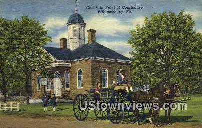 Courthouse - Williamsburg, Virginia VA Postcard