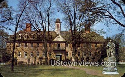 Wren Building William & Mary College  - Williamsburg, Virginia VA Postcard