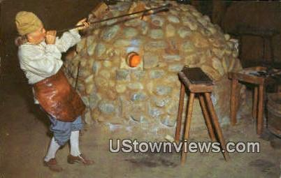 Glassmaking - Jamestown, Virginia VA Postcard