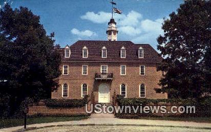 Capitol Building - Williamsburg, Virginia VA Postcard