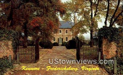 Kenmore Built 1752 - Fredericksburg, Virginia VA Postcard