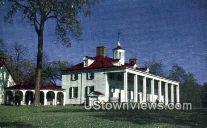 Martha & George Washingtons Home - Mount Vernon, Virginia VA Postcard