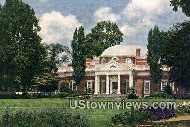 Home of Thomas Jefferson, Monticello - Charlottesville, Virginia VA Postcard