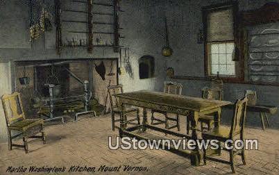 Martha Washington Kitchen - Mount Vernon, Virginia VA Postcard