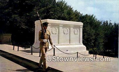 Tomb Of Unknown Soldier - Arlington National Cemetary, Virginia VA Postcard