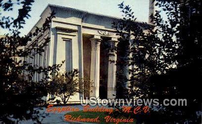Egyptian Building - Richmond, Virginia VA Postcard