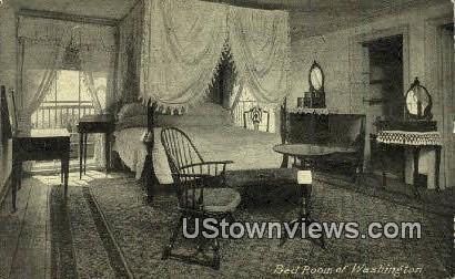 Washingtons Bedroom  - Mount Vernon, Virginia VA Postcard