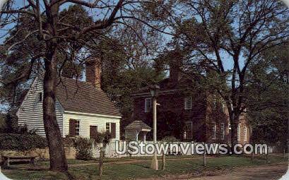 George Wythe House  - Williamsburg, Virginia VA Postcard