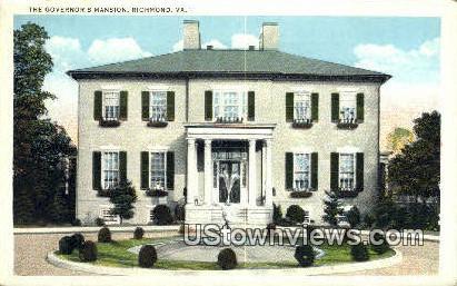 The Governor S Mansion - Richmond, Virginia VA Postcard