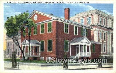 Chief Justice Marshall - Richmond, Virginia VA Postcard