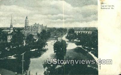 Capital Square  - Richmond, Virginia VA Postcard