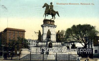 Washington's Monument  - Richmond, Virginia VA Postcard