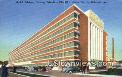 Model Tobacco Factory - Richmond, Virginia VA Postcard