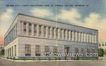 New State Library  - Richmond, Virginia VA Postcard